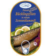 Fischzauber Feinste Bücklingsfilets, in reinem Bio-Sonnenblumenöl, 190 gr Dose (145 g)