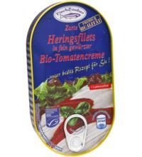 Fischzauber Feinste Heringsfilets in gewürzter Tomatencreme, 200 gr Dose