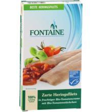 Fontaine Zarte Heringsfilets, in Tomatencreme mit Tomatenstücken, 200 gr Dose (120 gr)