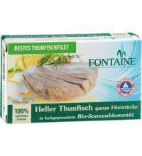 Fontaine Heller Thunfisch, in Bio-Sonnenblumenöl, 120 gr Dose (90 gr)