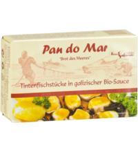 Pan do Mar Tintenfischstücke, in galizischer Bio-Sauce mit Bio-Olivenöl extra nativ,  120 gr Dose (9