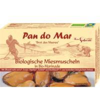 Pan do Mar Miesmuscheln, in herzhafter Bio-Marinade mit Bio-Olivenöl , 115 gr Dose (85 gr)