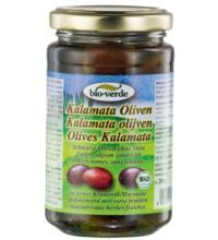 bio-verde Schwarze Kalamata Oliven, 200 gr Glas  (120 gr)