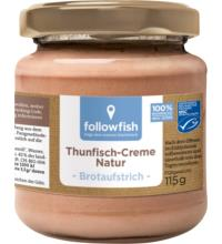 followfish Thunfisch-Creme natur, 115 gr Glas
