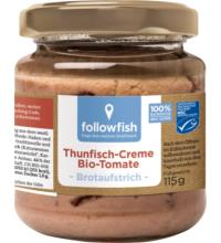 followfish Thunfisch-Creme Tomate, 115 gr Glas