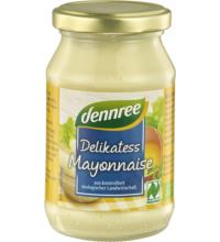 dennree Delikatess Mayonnaise, 250 ml Glas