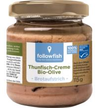 followfish Thunfisch-Creme Olive, 115 gr Glas