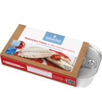 followfish Makrelen Filets in Bio-Tomatensauce, 125 gr Dose (80 gr)