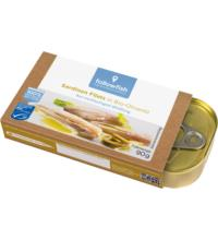 followfish Sardinen Filets in Bio-Olivenöl, 90 gr Dose (63 gr)