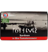 Fish For Ever Sardinen in Bio-Tomatensauce, 120 gr Dose