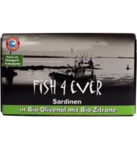 Fish For Ever Sardinen in Bio-Olivenöl, 120 gr Dose