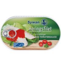 Sywan Heringsfilets in Bio Tomatensauce, 200 gr Dose (120 gr)