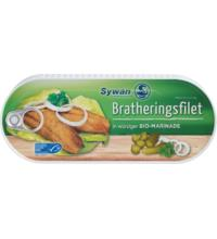 Sywan Bratheringsfilets mit Bio Marinade, 325 gr Dose (200 gr) mit Bio Marinade