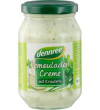 dennree Remouladencreme ohne Ei mit Kräutern, 250 ml Glas