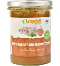 MyDeli Schweinerahmgeschnetzeltes, 370 gr Glas