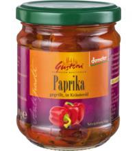Gustoni gegrillte Paprika, in Kräuteröl, demeter, 190 gr Glas (110 gr)