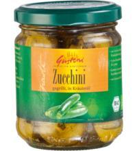 Gustoni gegrillte Zucchini, in Kräuteröl, 190 gr Glas (110gr)