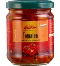 Gustoni halbgetrocknete Tomaten, in Kräuteröl, 190 gr Glas (110gr)