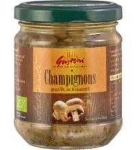 Gustoni gegrillte Champignonköpfe, in Kräuteröl,190 gr Glas (110gr)