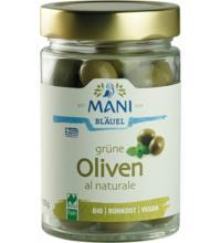Mani Grüne Oliven al Naturale, 205 gr Glas