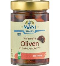 Mani Kalamata Oliven, entkernt, in Lake, 280 gr Glas  (150 gr)