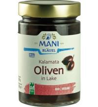Mani Kalamata Oliven, in Lake, 300 gr Glas  (180 gr)