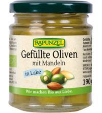 Rapunzel Oliven grün, gefüllt mit Mandeln, in Lake, 190 gr Glas(110 gr)