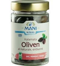 Mani Kalamata Oliven, entkernt, al Naturale, 175 gr Glas