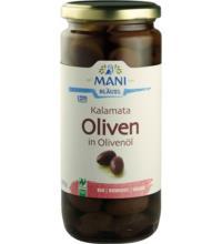 Mani Kalamata Oliven in Olivenöl, 455 gr Glas