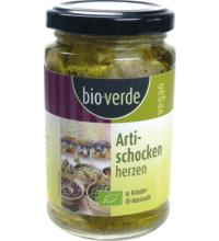 bio-verde Artischockenherzen in Öl, 200gr Glas (130 gr)