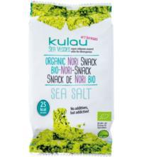 Kulau GmbH Nori-Snack Sea Salt, krosser Algensnack, 4 gr Packung