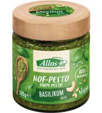 Allos Hof-Pesto Basilikum, 125 gr Glas