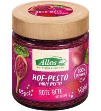 Allos Hof-Pesto Rote Bete, 125 gr Glas