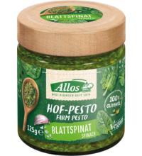 Allos Hof-Pesto Blattspinat, 125 gr Glas