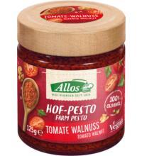 Allos Hof-Pesto Tomate Walnuss, 125 gr Glas