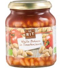 De Rit Weiße Bohnen in Tomatensoße, 360 gr Glas