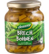 dennree Brechbohnen, 340 gr Glas (195 gr)