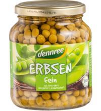 dennree Erbsen fein, 350 gr Glas (215 gr)