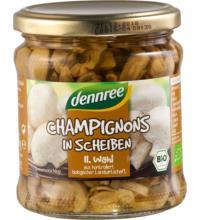 dennree Champignons geschnitten, 330 gr Glas