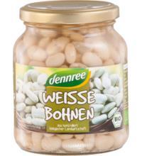 dennree Weiße Bohnen, 350 gr Glas (240 gr)