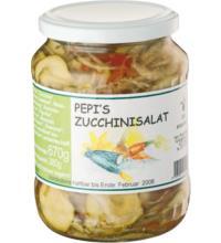 Pflügelmeier Pepis Zucchinisalat, mildsüß, pikant, 670 gr Glas (380 gr)
