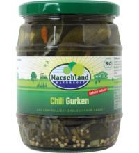 Marschland Chili-Gurken pikant, 530 gr Glas (290 gr)