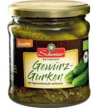 Schweizer Gewürzgurken, 330 gr Glas