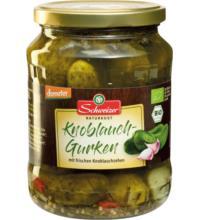 Schweizer Knoblauchgurken, 670 gr Glas (360 gr)