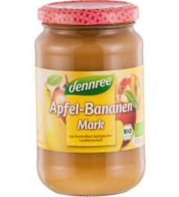 dennree Apfel-Bananenmark, 360 gr Glas