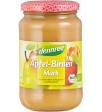dennree Apfel-Birnenmark, 360 gr Glas