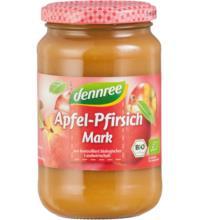 dennree Apfel-Pfirsichmark, 360 gr Glas