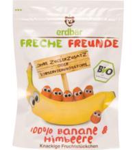 erdbär Freche Freunde Fruchtchips Banane / Himbeere, 16 gr Beutel