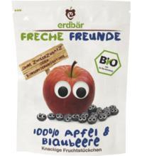 erdbär Freche Freunde Fruchtchips Apfel / Blaubeere, 16 gr Beutel