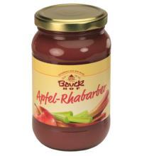 Bauck Hof Apfel-Rhabarbermus mit Apfel-Dicksaft, 360 gr Glas